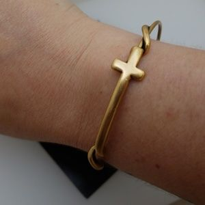 NWT Alex and Ani Cross Wrap Russian gold